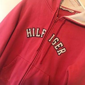 Tommy Hilfiger Full Zip Hoodie Sweatshirt Pink XL